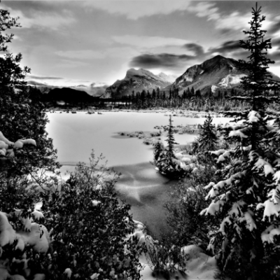 Early Winter, 3rd Vermillion Lake, Banff NP, AB 8X10