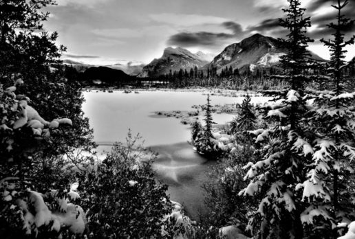 Early Winter, 3rd Vermillion Lake, Banff NP, AB