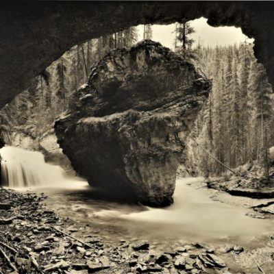 Peninsula Illusion, Johnston's Canyon, Banff NP, AB