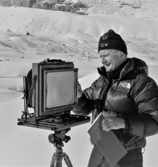 On Athabasca Glacier, 8X10 View Camera-Allan-King